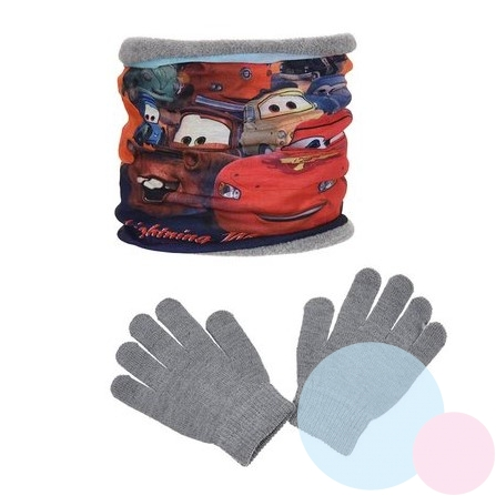 Nákrčník a rukavice Cars šedý (fleece, jersey)